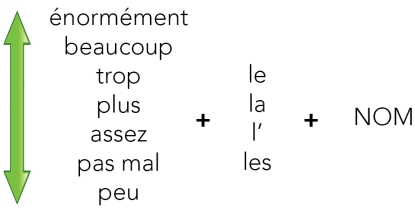 A1. adverbes de quantité NOM INDEF